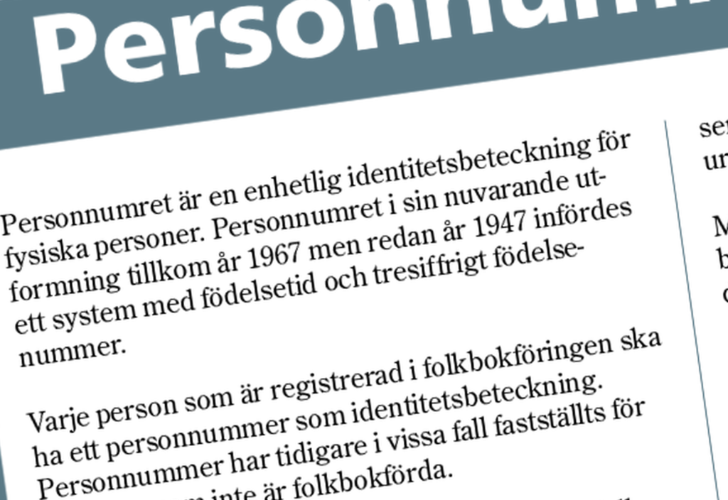Persons – not numbers